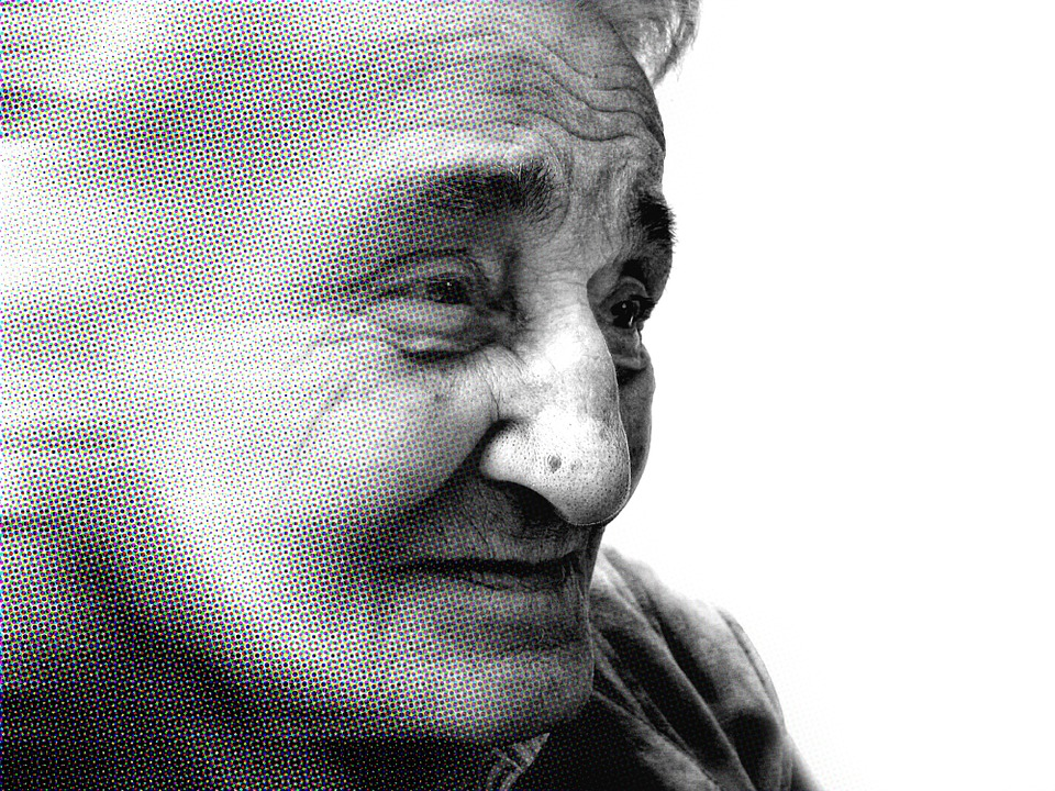 Eine alte Frau