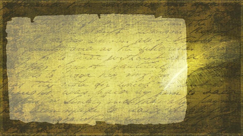 Schrift auf Pergament