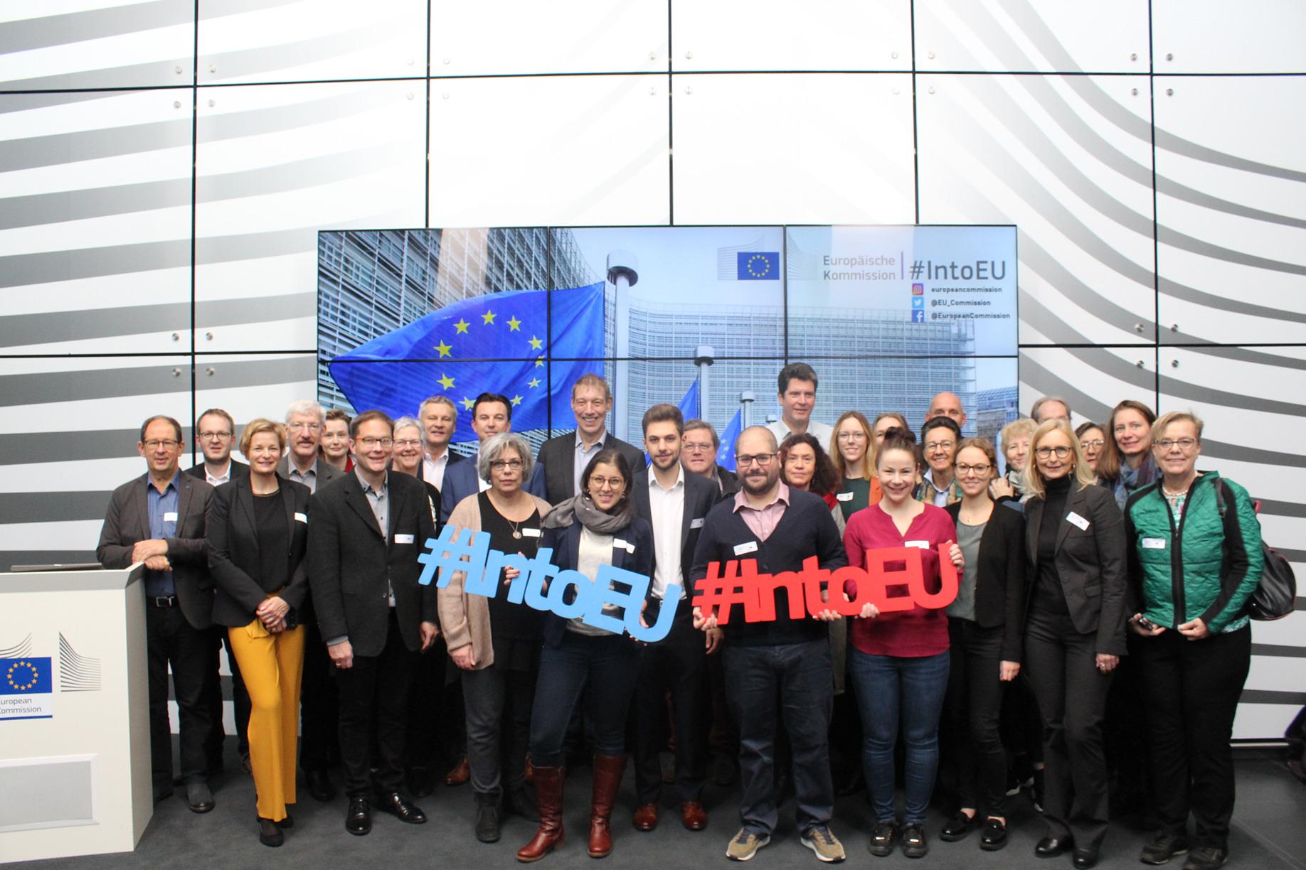 Besuch der EU-Kommission in Brüssel