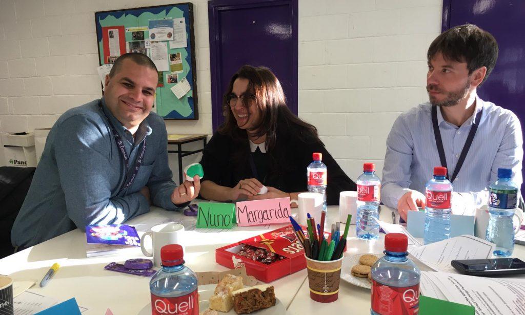 Austausch beim Erasmus+ Treffen