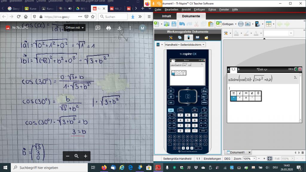Online Unterricht Mathe